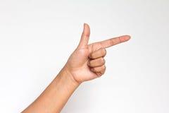 Point humain de main avec le doigt Photographie stock