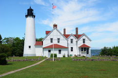 Point Iroquois Lighthouse royalty free stock photography