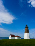 Point Judith Lighthouse. Stock Photo