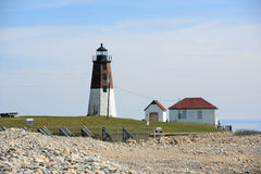 Point Judith Lighthouse, Narragansett, RI, Etats-Unis Photo libre de droits