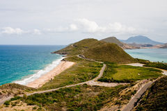 Point of Land in St Kitts Stock Photos