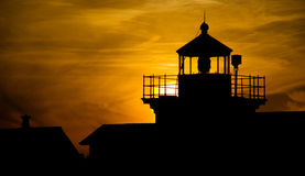 Point Lighthouse Sunset Nautical Landscape Nauitca Stock Photo
