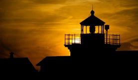 Point Lighthouse Sunset Nautical Landscape Nauitca Stock Photo