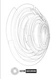 Point and line black card. Circle illustration royalty free illustration