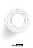 Point and line black card. Circle web illustration vector illustration