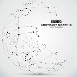 Point and line constructed the technological sense abstract illustration. Point and line constructed the technological sense abstract illustration,A ball made Stock Images