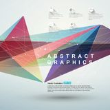 Point, line, surface composition of abstract graphics, infographics,Vector illustration. Royalty Free Stock Images