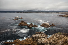 Point Lobos California. The coast around the Point Lobos Natural Reserve in California, just south of Monterey, provides some of the most dramatic and beautiful Royalty Free Stock Photos