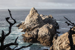 Point Lobos California Scenery. The rugged coast around the Point Lobos Natural Reserve in California, just south of Monterey, provides some of the most dramatic Stock Image