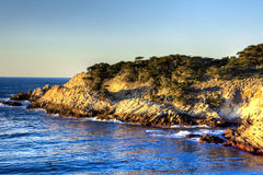 Point Lobos peninsula on sunset Stock Images