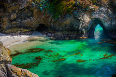 Point Lobos State Park California. China Beach Point Lobos California State Reserve Royalty Free Stock Image