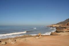Point Loma Coast. Pacific Ocean at Point Loma, San Diego, California, near Cabrillo National Monument Stock Photos