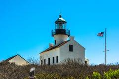 Point Loma Lighthouse, San Diego Images libres de droits