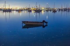 Point Loma rzędu łódź Obraz Royalty Free