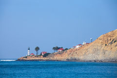 Point Loma, San Diego. A view of the Point Loma and the old lighthouse from San Diego Bay royalty free stock images