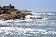 Point Loma San Diego beaches and surf California. Royalty Free Stock Image