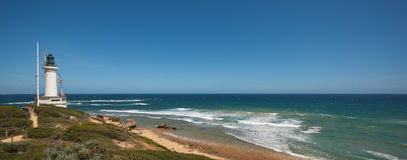 Point Lonsdale Bass strait. Light house looking over bass strait royalty free stock photography