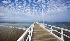 Point Lonsdale jetty, Bellarine Peninsula Stock Photos