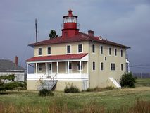 Point Lookout Lighthouse. Photo of Point Lookout lighthouse on the Chesapeake bay in Maryland Stock Image