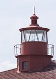 Point Lookout Lighthouse. Lighthouse cupola at Point Lookout, located on the southernmost point of land on the western shore of the Chesapeake Bay in Maryland stock photo