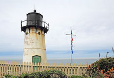 Point Montara Fog Signal and Light Station in spring Royalty Free Stock Photo