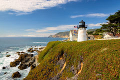 Point Montara lighthouse on the Pacific Coast Stock Photography