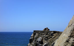 At Point Mugu Cliff, SoCal Royalty Free Stock Photography
