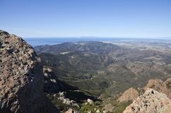 Point Mugu Peak and Channel Islands in California Stock Photography