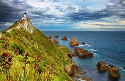 point neuf la zélande de pépite de phare Image libre de droits