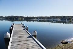 Point Newcastle de Bolton sur le lac Macquarie photo libre de droits