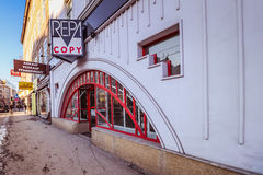 Point nodal Rennweg de transport à Vienne Photographie stock libre de droits