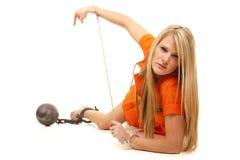 Point orange de configuration de boule de prisonnier photographie stock libre de droits