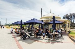 Point Ormond Cafe on the Elwood Beach foreshore in Melbourne. Royalty Free Stock Photo