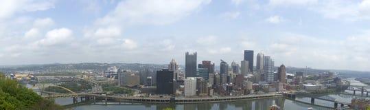 Point Park, Pittsburgh skyline Stock Photos