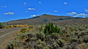 Point of the Pine. View of Pine Mountain in the high desert of central Oregon stock photos