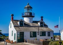 Point Pinos Flag at Half Mast for Thousand Oaks Mass Shooting royalty free stock photos