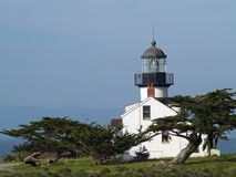 Point Pinos Lighthouse. View of Point Pinos Lighthouse on the Monterey coast Stock Photography