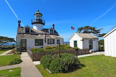 Point Pinos lighthouse in Pacific Grove, California Stock Image
