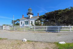 Point Pinos lighthouse in Pacific Grove, California Royalty Free Stock Image