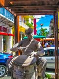 Point-a-Pitre, Guadeloupe - February 09, 2013: The statue at street in Guadeloupe. At Point-a-Pitre on February 09, 2013. The Pointe-a-Pitre Market is located Stock Photography