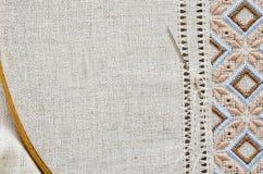 Point plat de texture de broderie hemstitch Image libre de droits