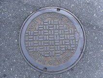 Point Pleasant Boro manhole cover Stock Images