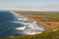 Point Reyes California. Looking out at the ocean and Sierra Mountain Range from Point Reyes Royalty Free Stock Photos