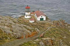 The Point Reyes Lighthouse. Was completed in 1870, California Royalty Free Stock Photo