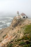 Point Reyes Lighthouse in fog Royalty Free Stock Photography