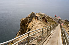 Point Reyes Lighthouse. Long walk down to Point Reyes Lighthouse, Marin County, California Stock Photo