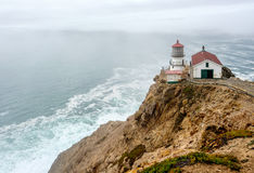 Point Reyes Lighthouse at Pacific coast, built in 1870 Stock Image