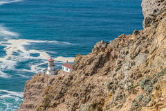 Point Reyes Lighthouse at Pacific coast, built in 1870 Royalty Free Stock Photo