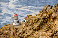 Point Reyes Lighthouse at Pacific coast, built in 1870 Stock Photos