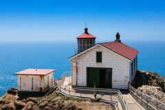 Point Reyes Lighthouse. The Point Reyes lighthouse on the Pacific coast of California Royalty Free Stock Photo